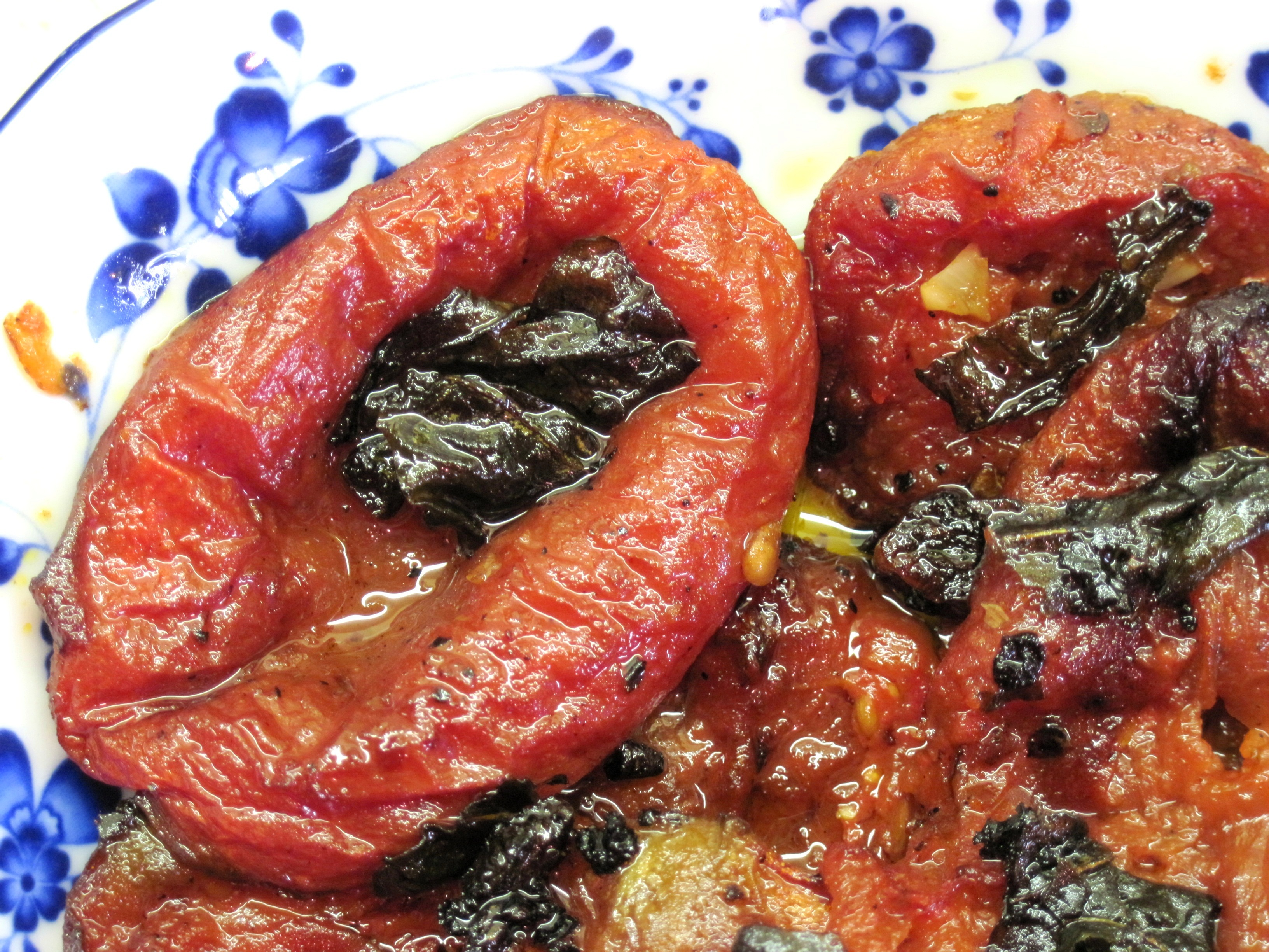Oven-Roasted Canned Tomatoes and Tomato Bruschetta (with a pasta ...