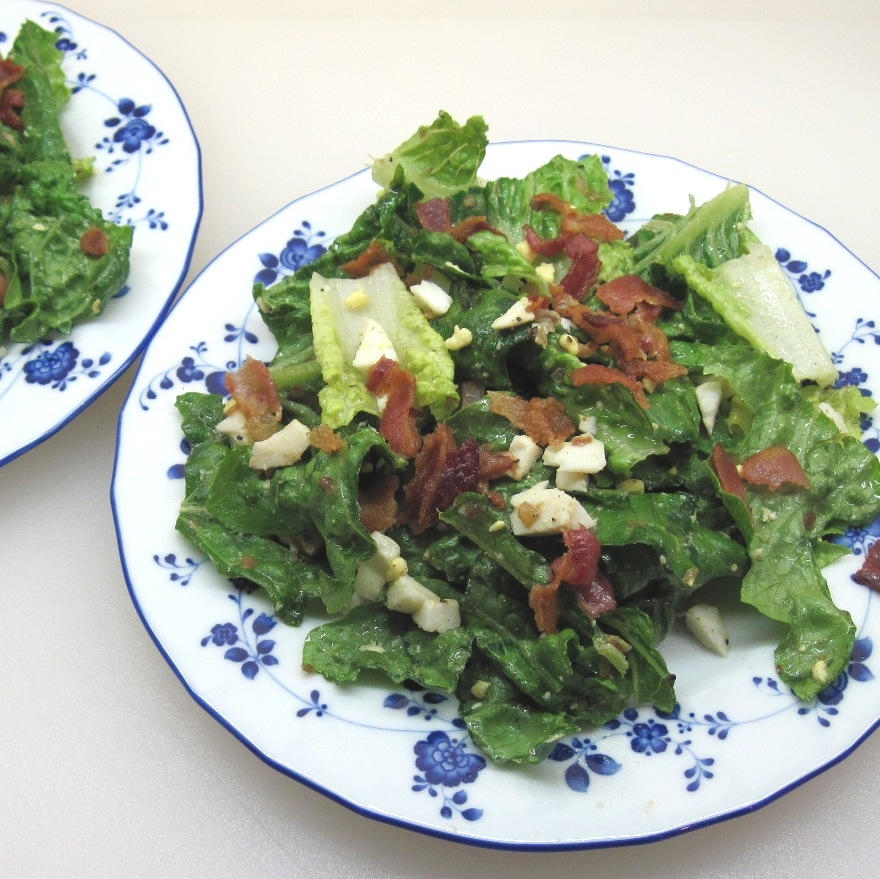 Kitchen Bar Greenside: Romaine Salad With Bacon And A Hard Boiled Egg