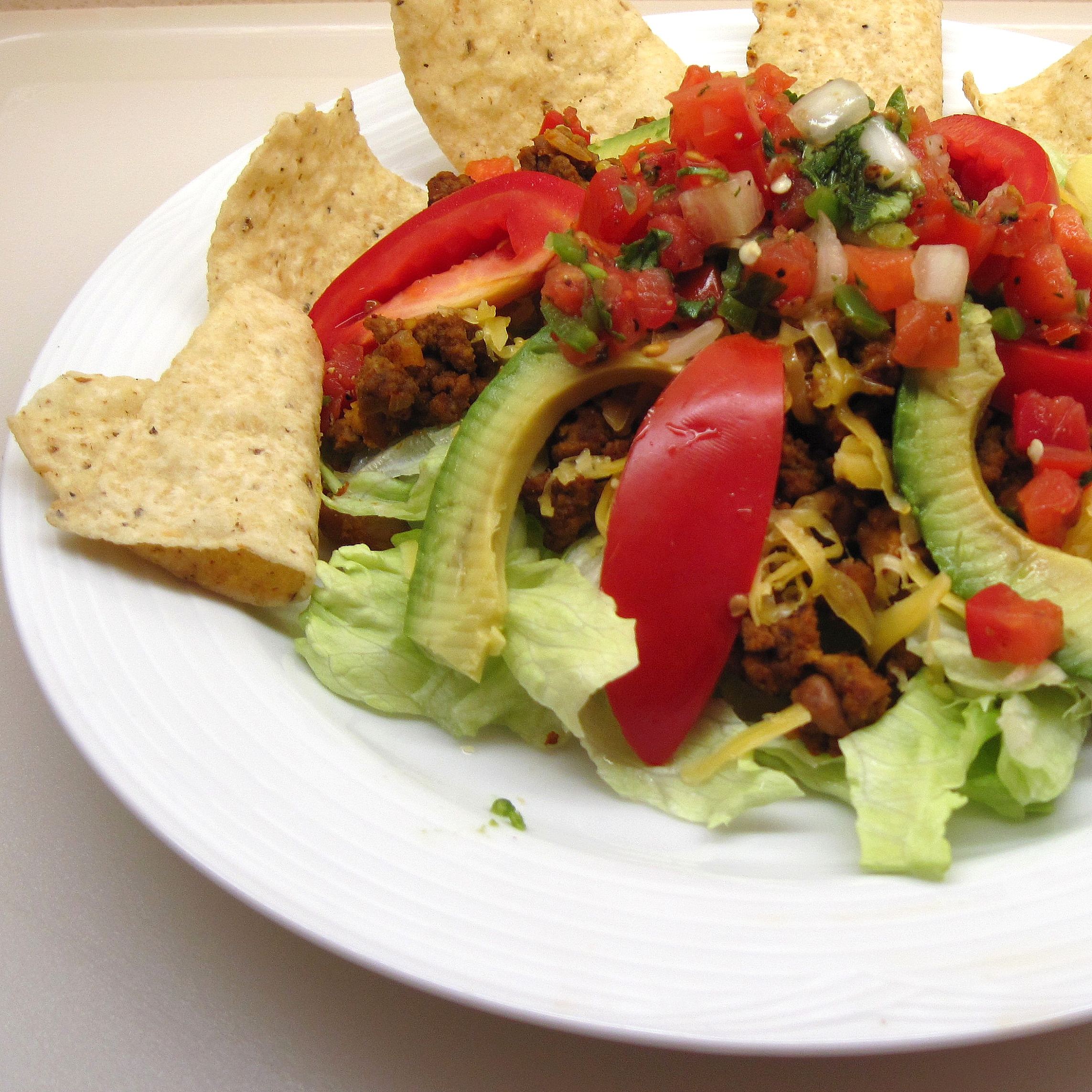 Tostada Salad for 2 | In the kitchen with Kath