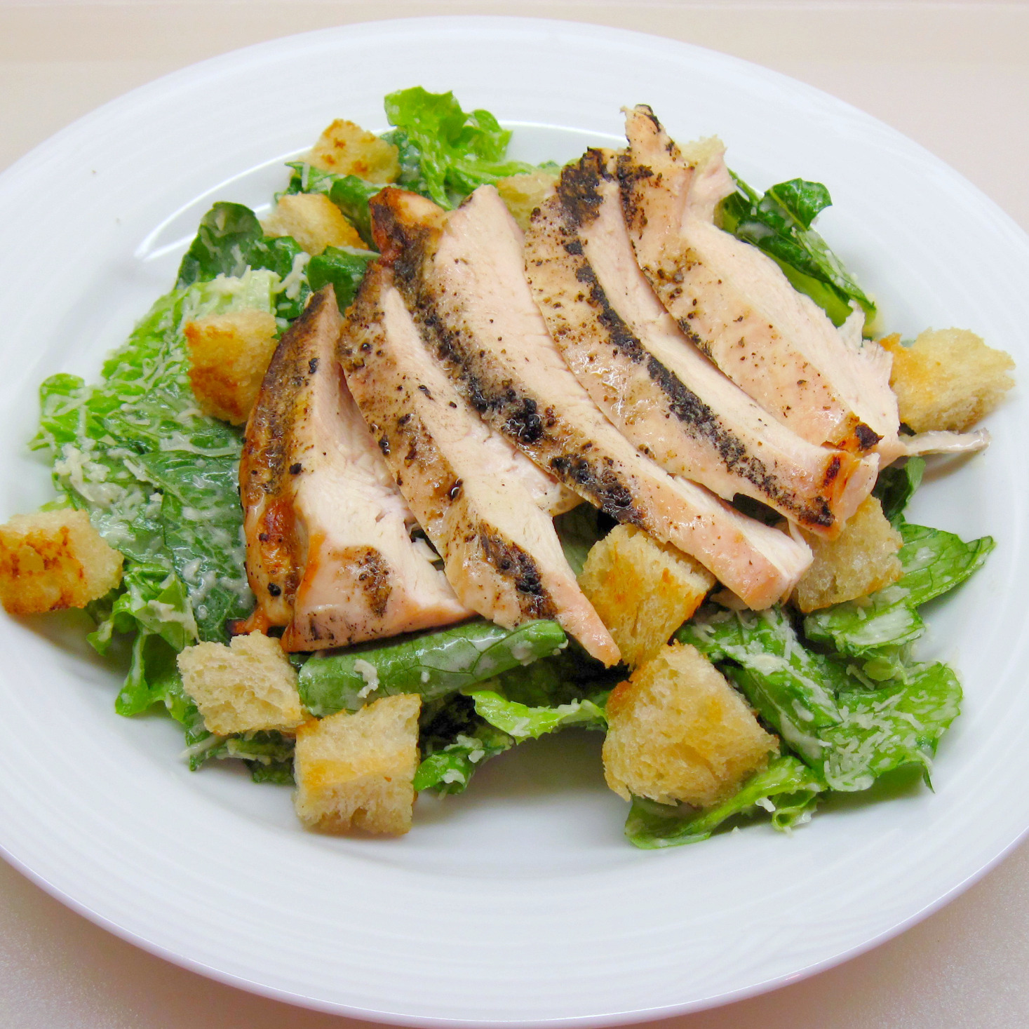Caesar Salad (4) with Grilled Chicken