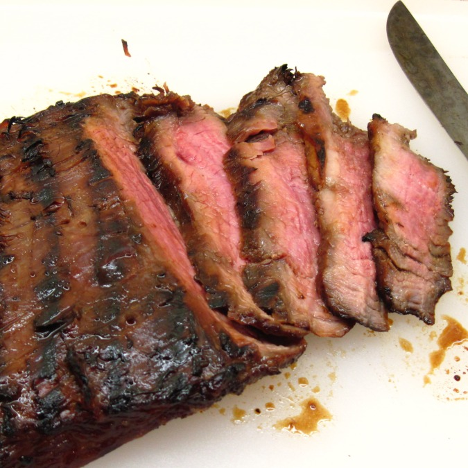 Slicing Flank Steak on the Diagonal