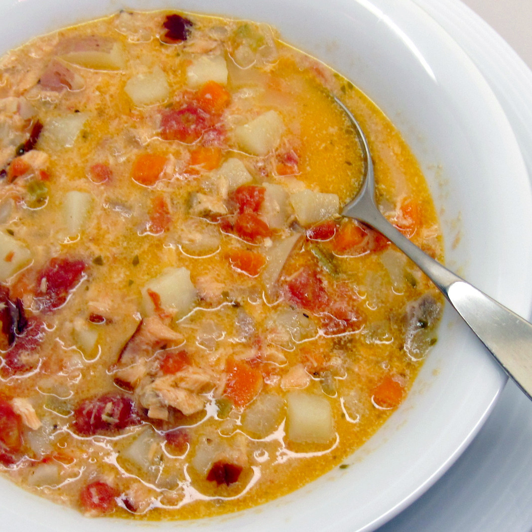 Kath's Smoked Salmon Chowder