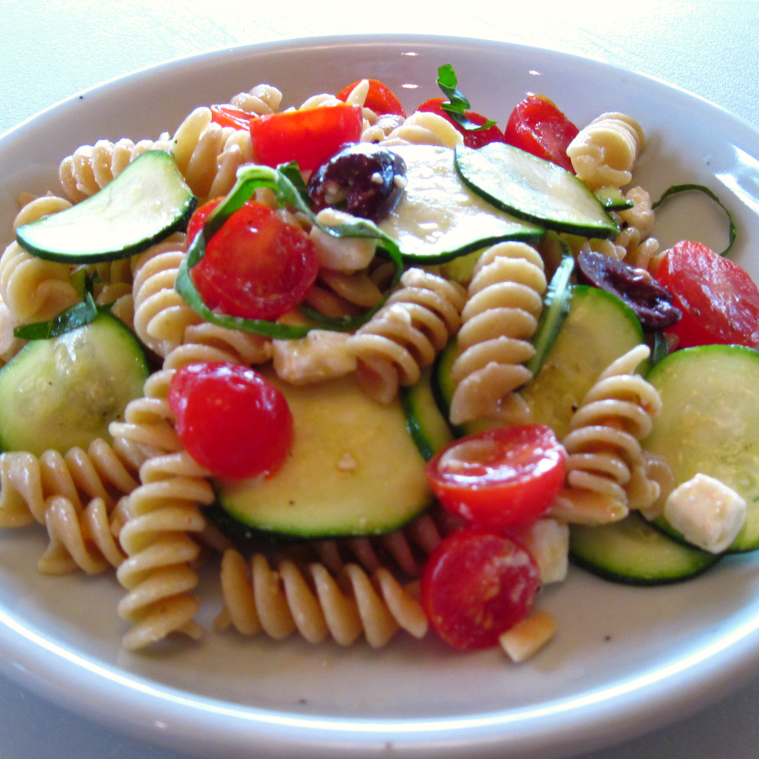 almond pasta salad sweet pea s kitchen zucchini and almond pasta salad ...
