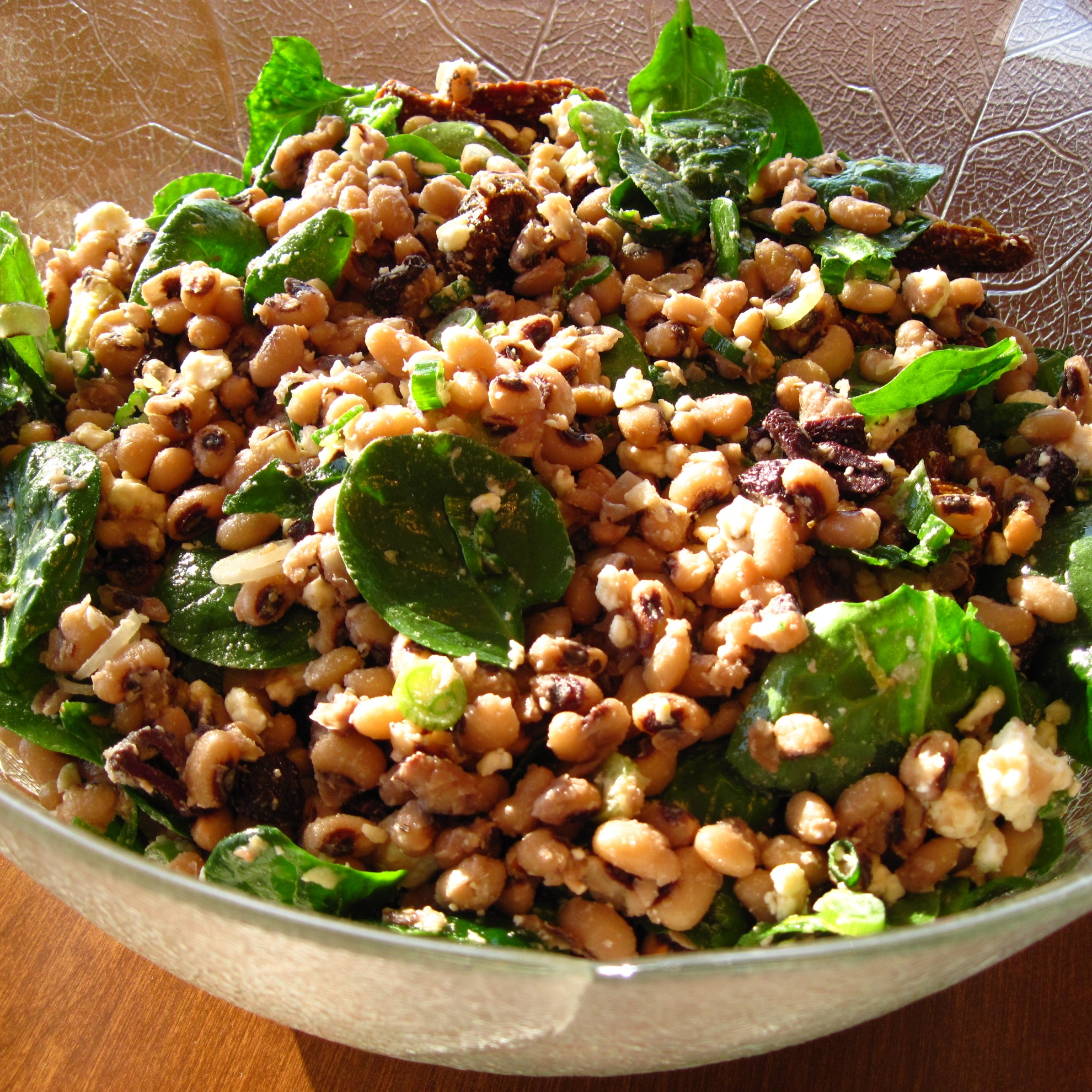 salad salad u nebbe black eyed pea salad with peppers cilantro and ...