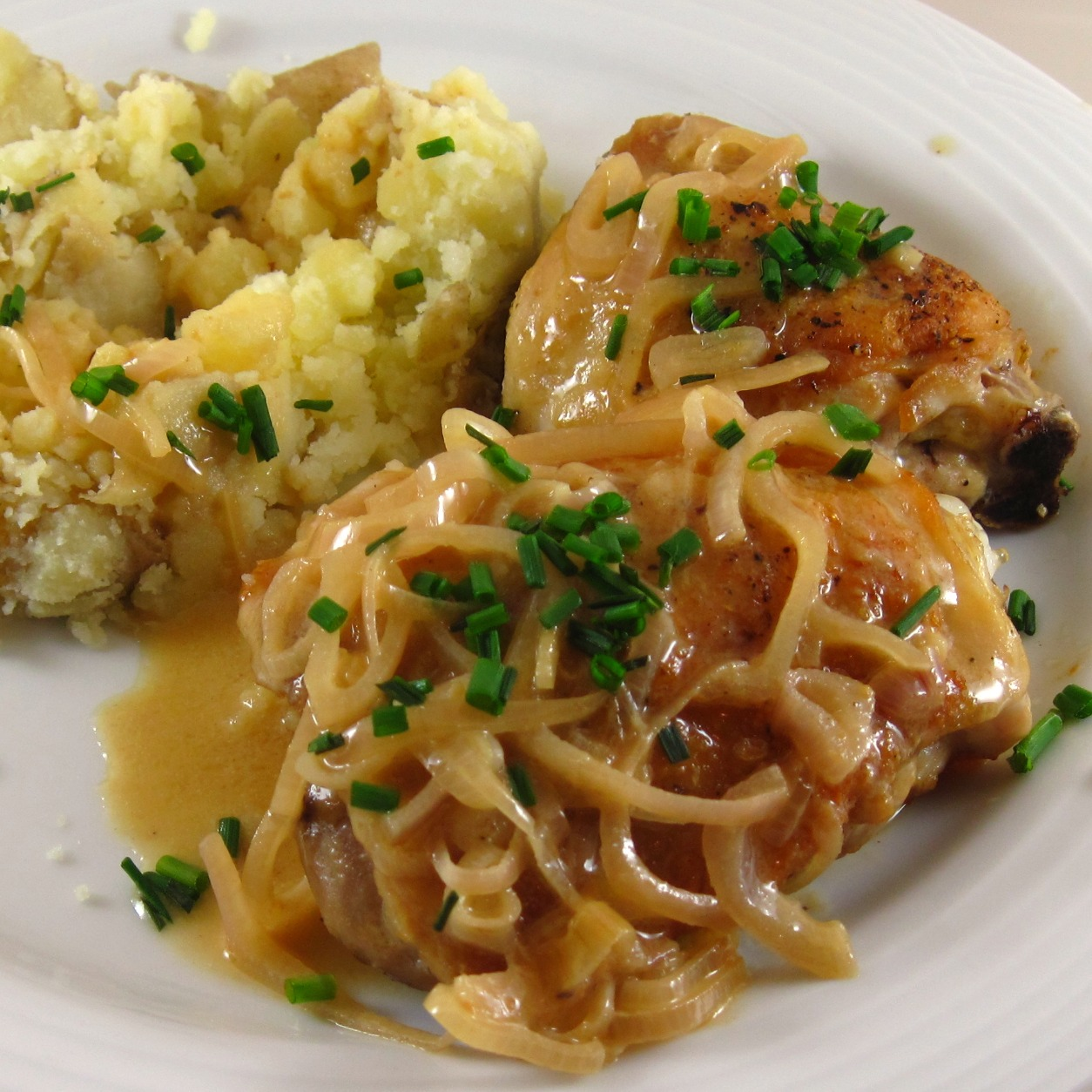 Roasted Chicken with Dijon Sauce | In the kitchen with Kath