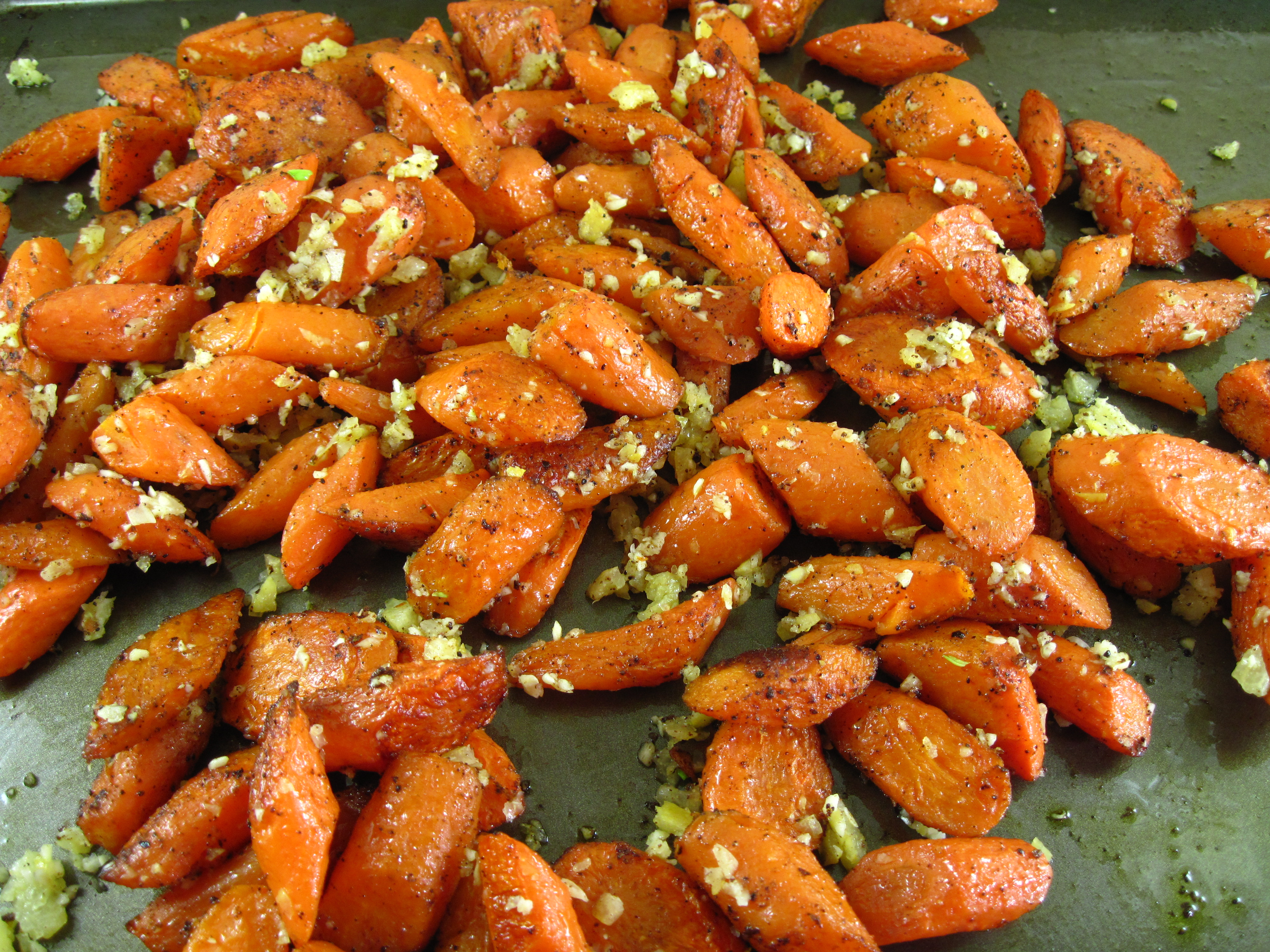roasted carrots with allspice in the kitchen with kath
