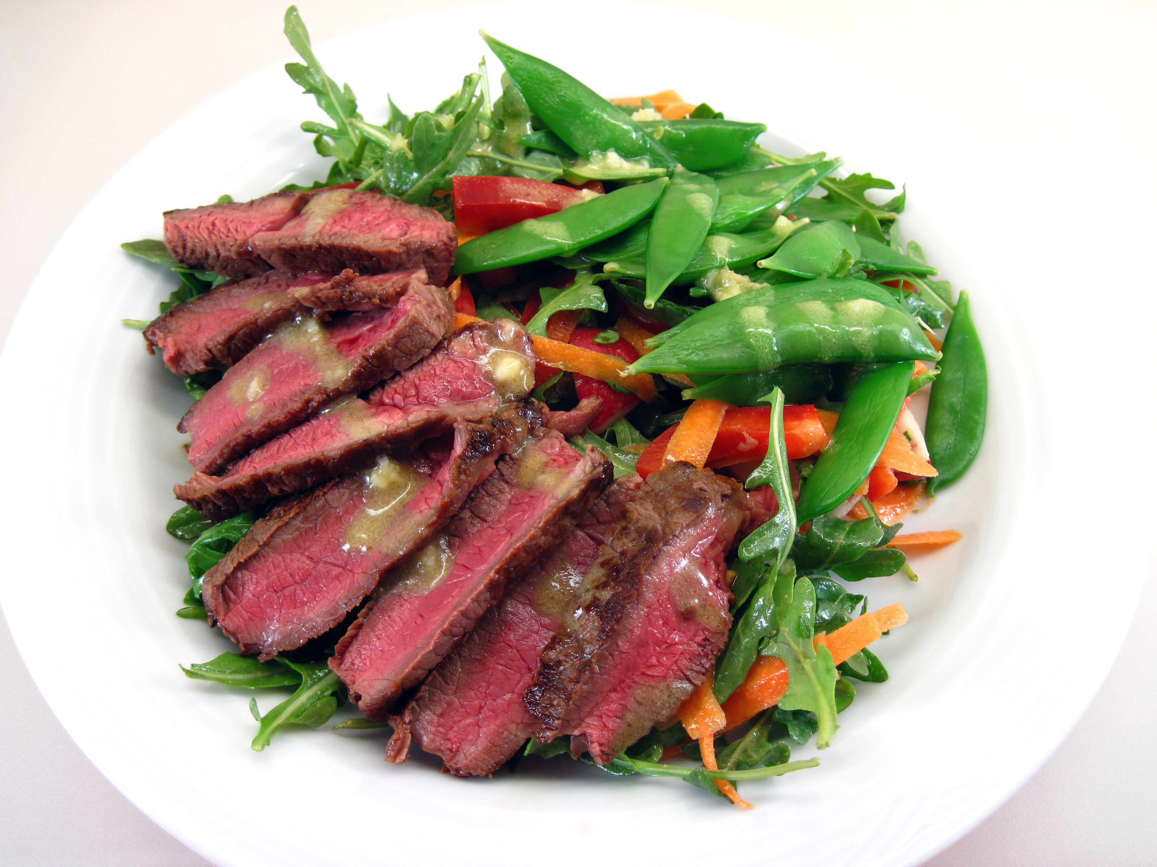 Flank Steak Salad With Chimichurri Dressing Grilled Steak And Tomato