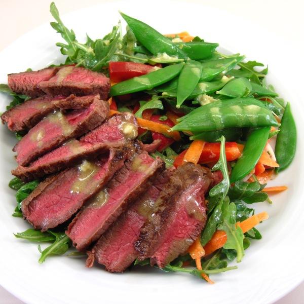 Steak Salad with Sugar Snap Peas