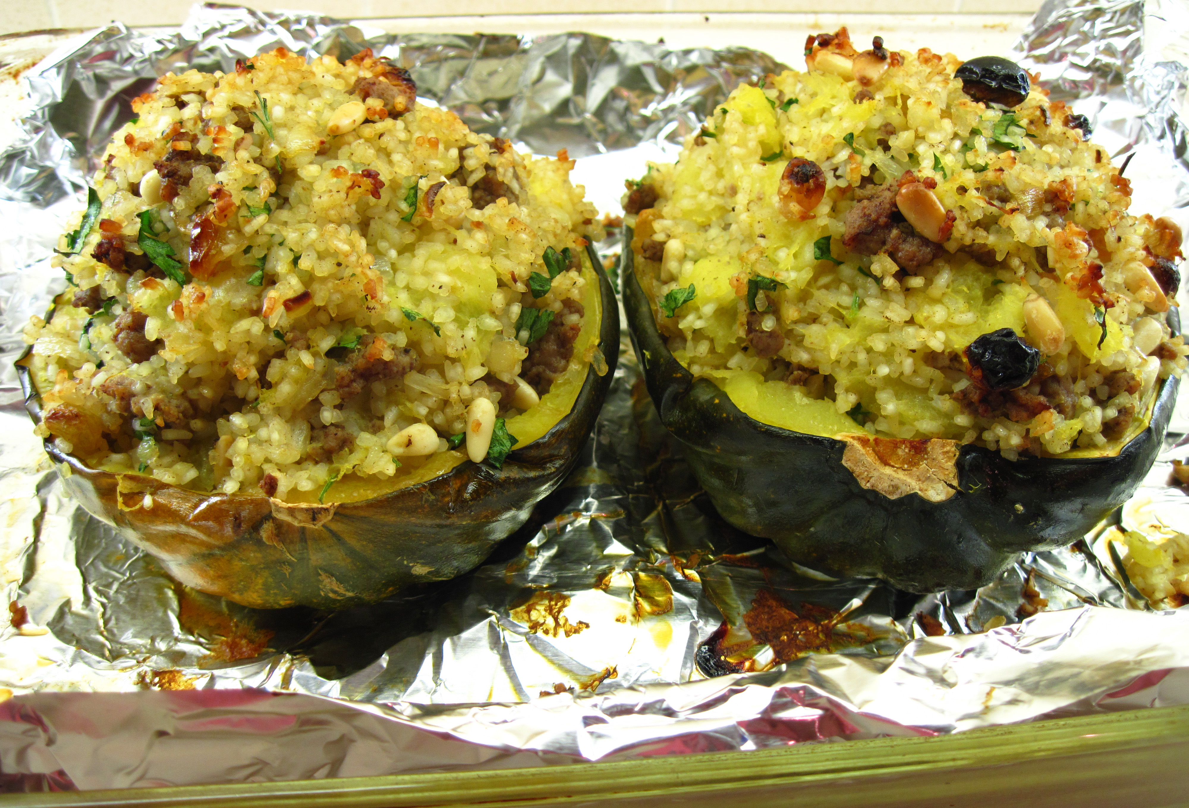 Moroccan-Style Stuffed Acorn Squashes | In the kitchen with Kath