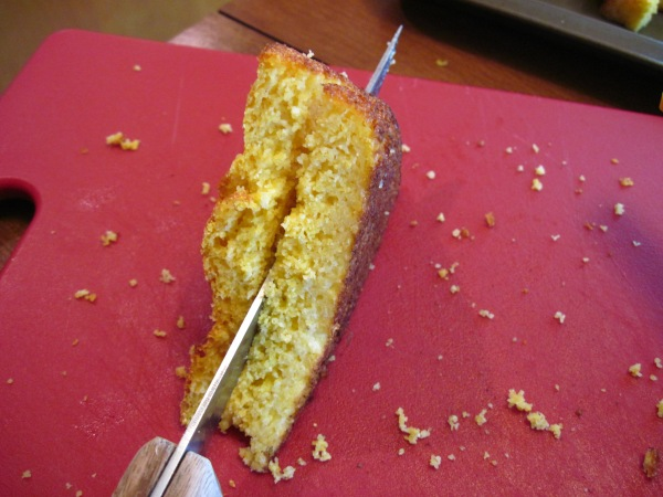 Cutting the cornbread