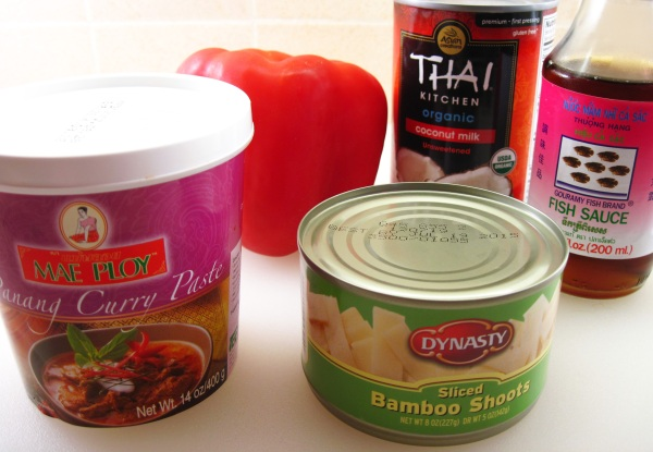 Ingredients for Panang Curry