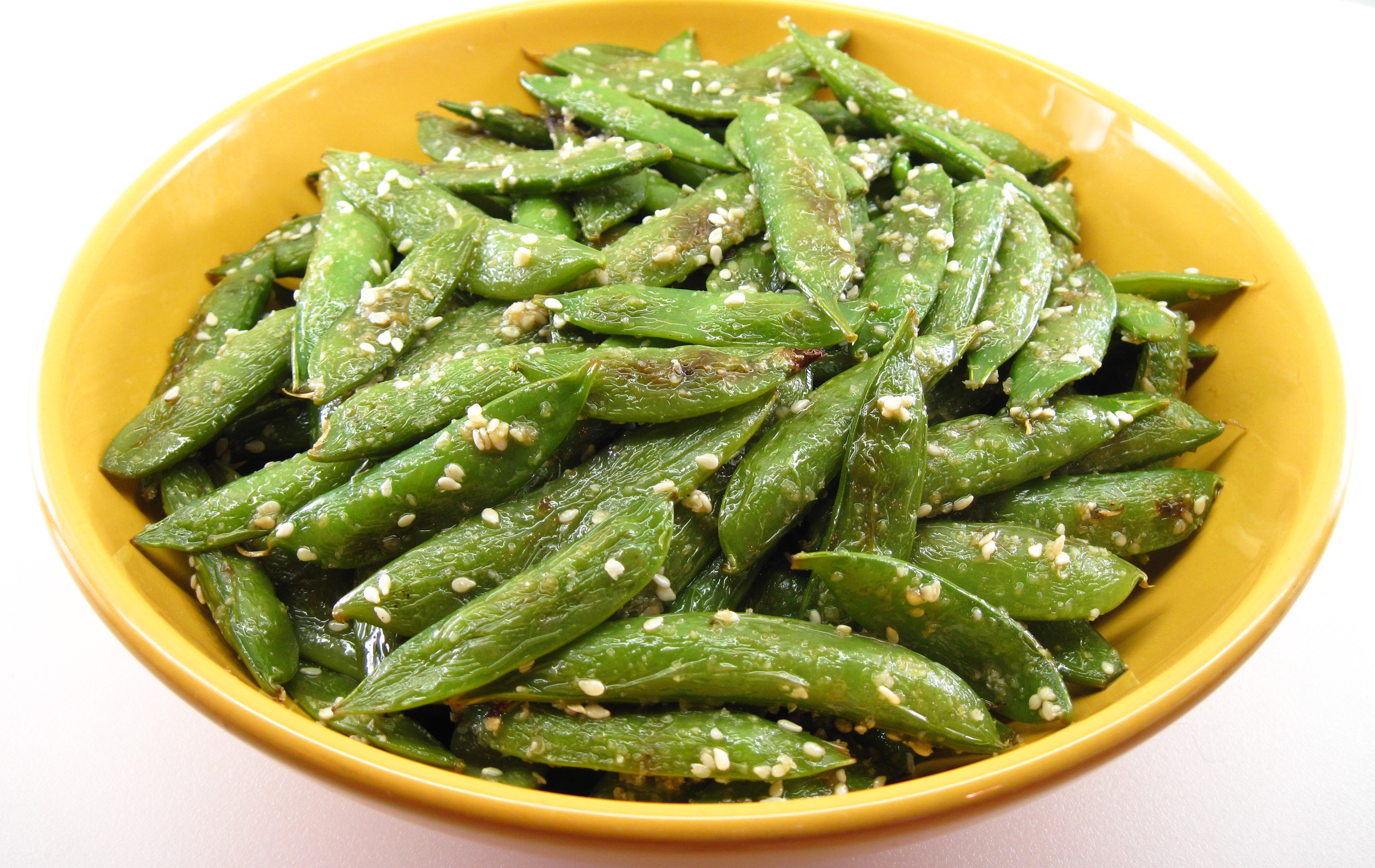 Quick-Roasted Sugar Snap Peas with Toasted Sesame Salt | In the ...