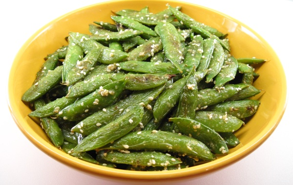 Roasted Sugar Snap Peas with Sesame Salt
