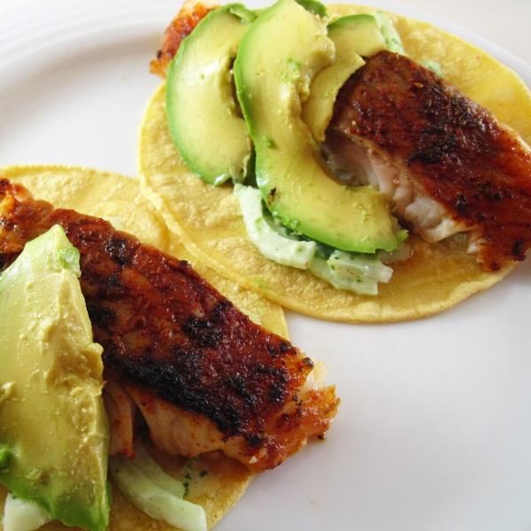 Blackened Catfish Tacos Recipe — Dishmaps