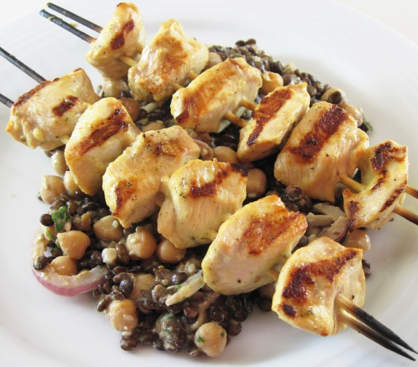 1 Grilled Chicken and Lentil and Chickpea Salad