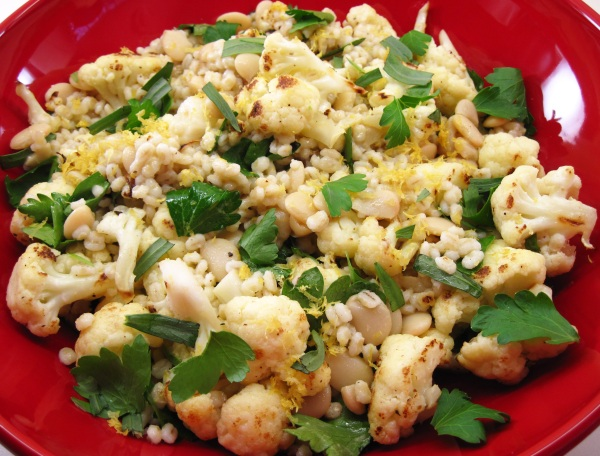 Cauliflower and Herbed Barley Salad