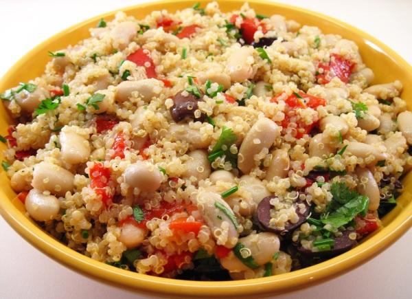 Quinoa, Roasted Pepper and Cannellini Bean Salad