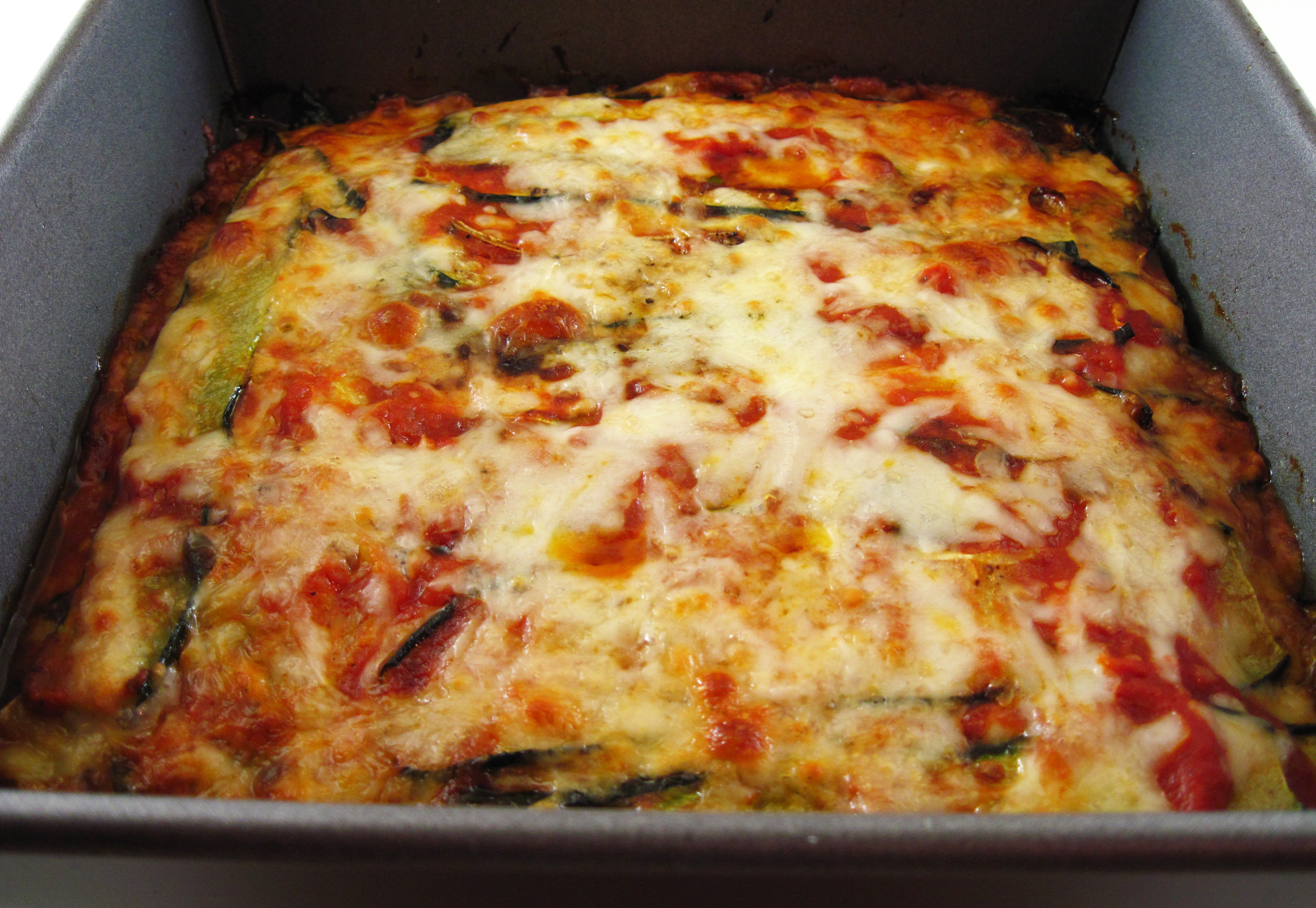 Roasted Zucchini Torta With Tomatoes And Mozzarella In