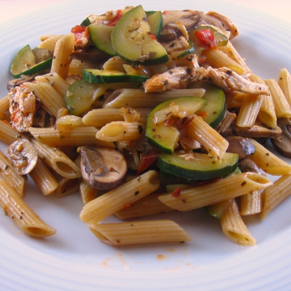 Pasta with Mediterranean Chicken Sauce