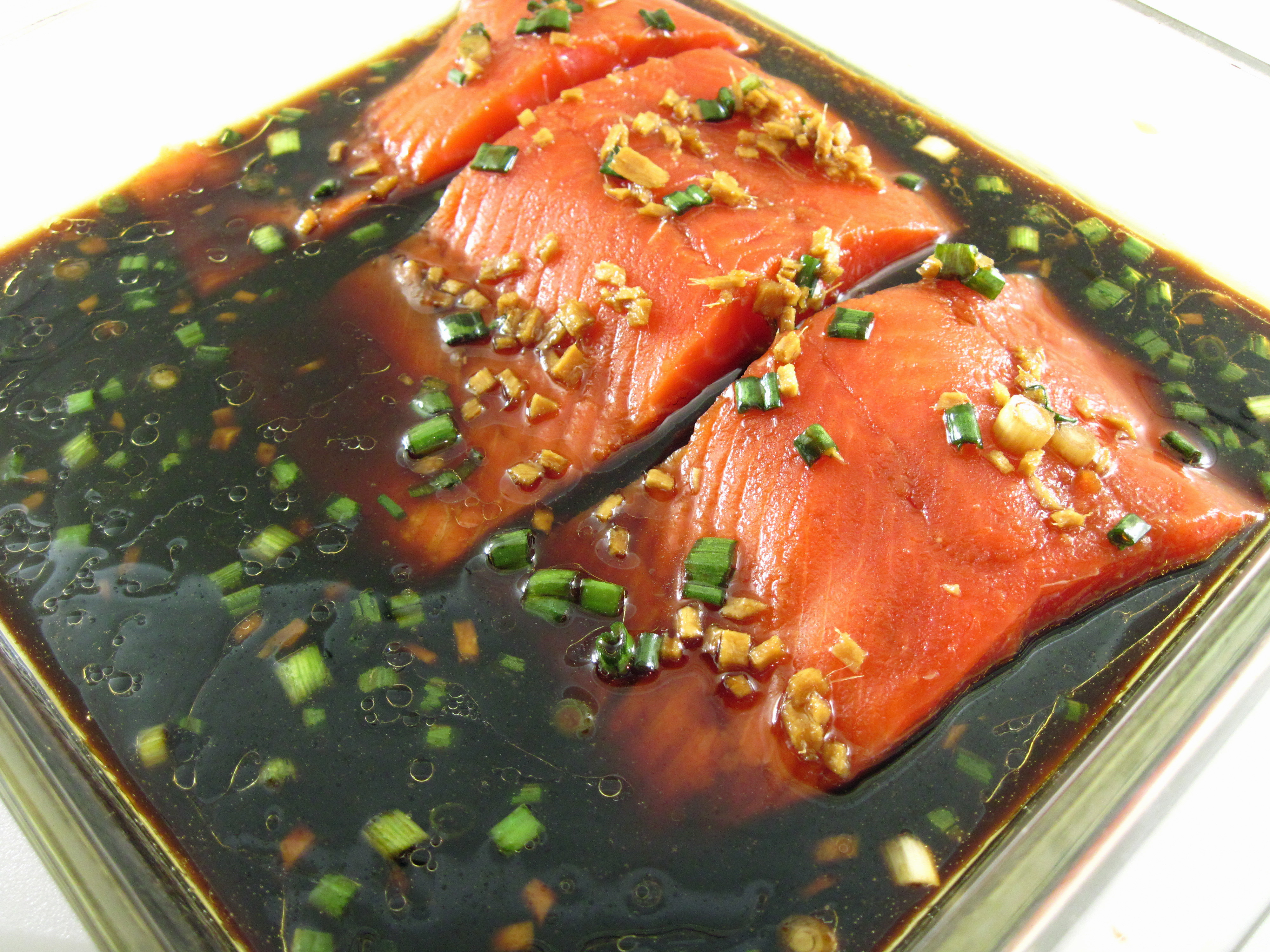 Teriyaki salmon in the kitchen with kath for Marinade for fish