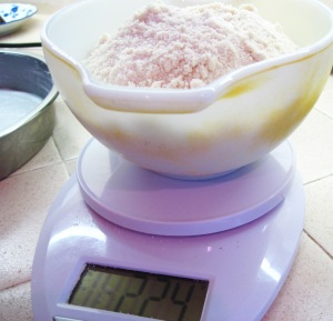 Measuring almond flour