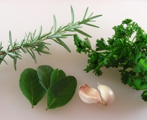 Rosemary, sage, garlic, and parsley
