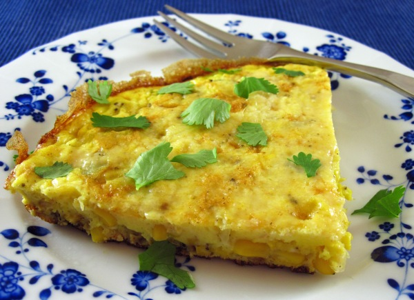 Corn Frittata with Pecorino-Romano Cheese