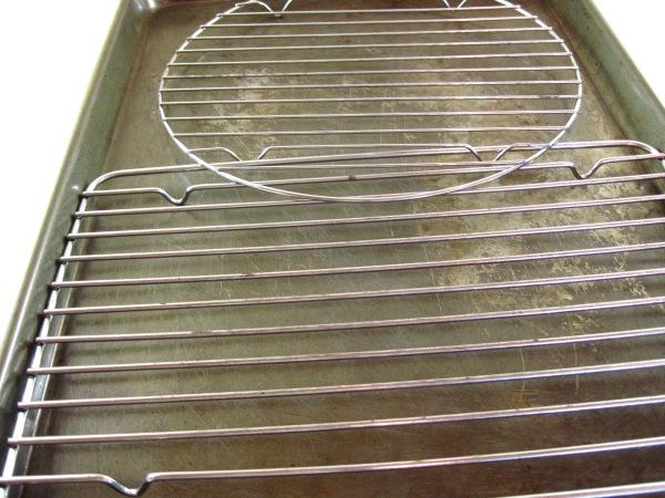 racks in a baking sheet
