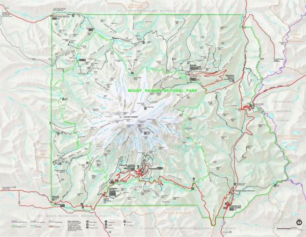 Mount Rainier National Park map
