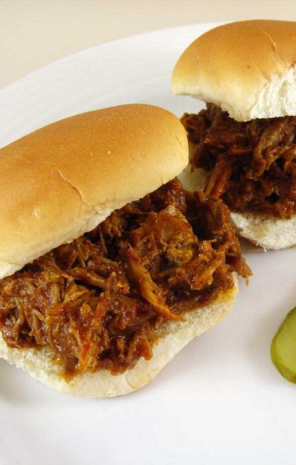 Pulled pork sliders tall