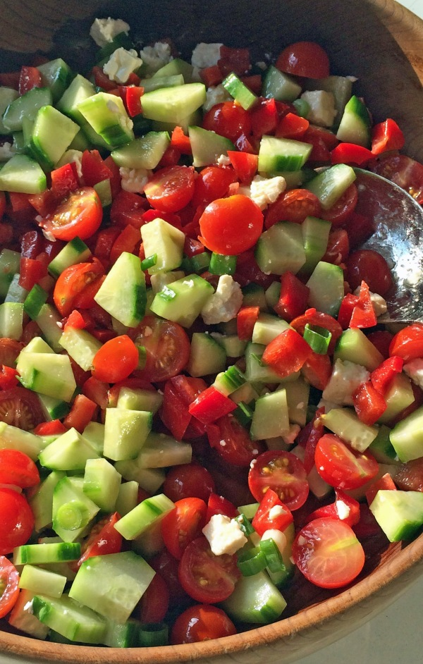Cucumber Tomato Salad with Feta Cheese 2