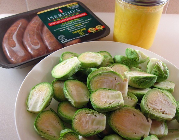 Ingredients for Brussels Sprouts with Sausage