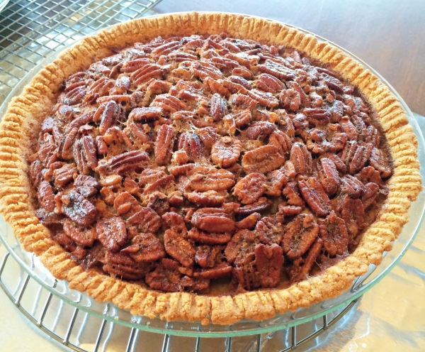 Pecan pie in an almond crust