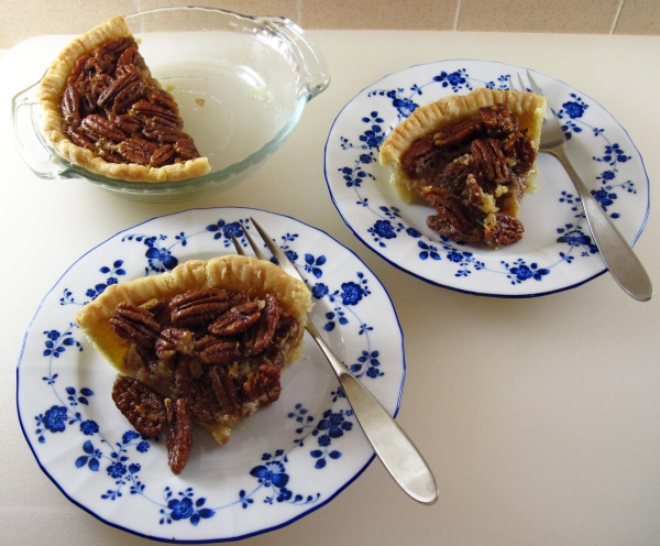 Two servings of Pecan Pie