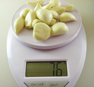 76g garlic - 16 cloves