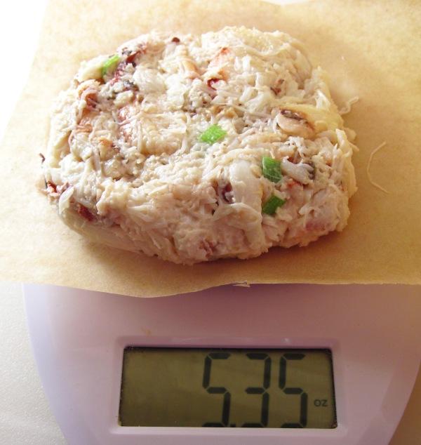 5.3 oz crab cake