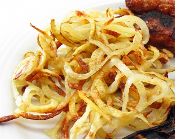 Oven baked spiral cut potatoes