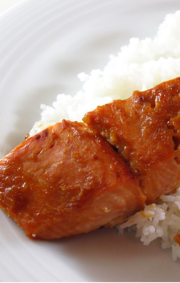 Broiled Salmon with Miso Glaze 3