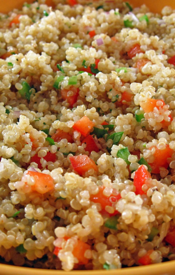 Quinoa Salad with Bell Pepper and Cilantro 2