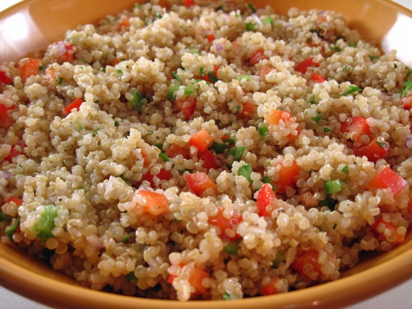 Quinoa Salad with Bell Pepper and Cilantro