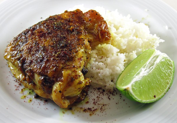 Turmeric Chicken with Sumac and Lime