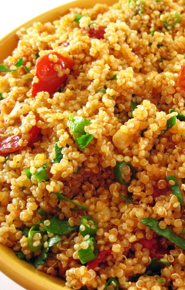 Quinoa with Oven-Dried Tomatoes and Smoky Tomato Vinaigrette - Copy