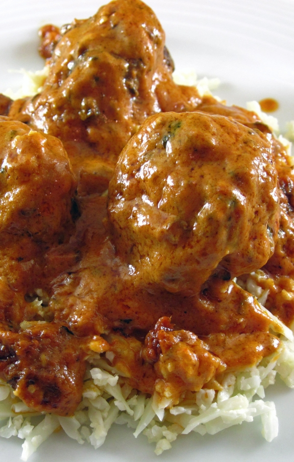 Lamb-Almond Dumplings in a Tomato Cream Sauce - Copy