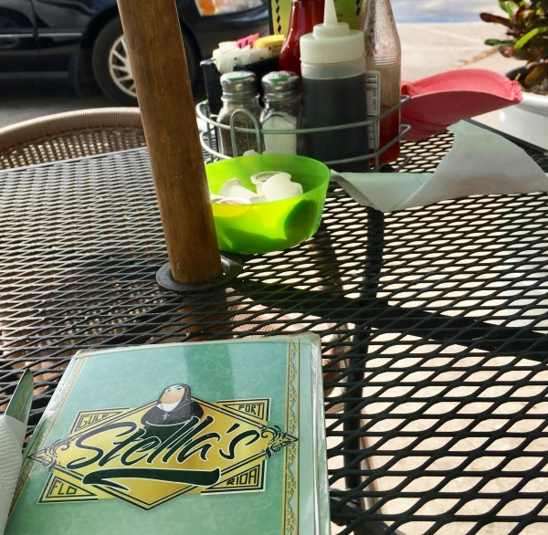Breakfast outside at Stella's