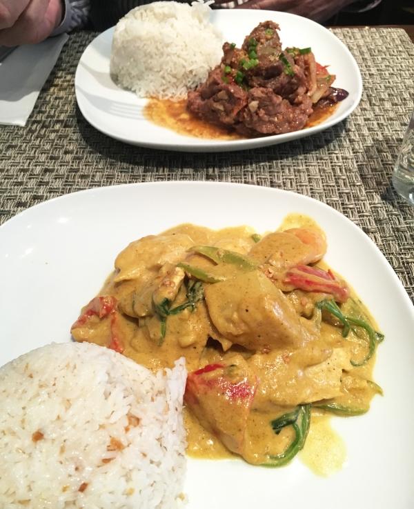 Chicken Curry and Pork Binagoogan