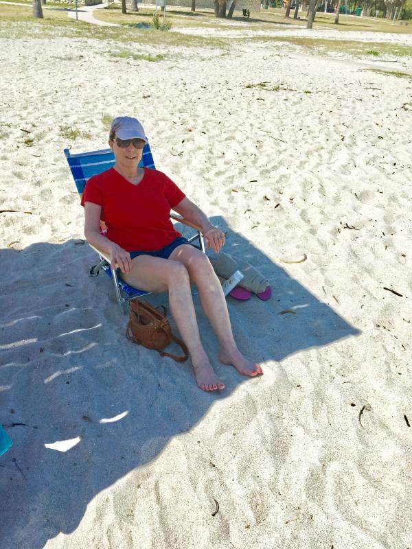 Kath at East Beach at Ford De Soto Park.jpg
