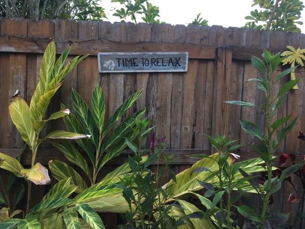 Sign in private patio