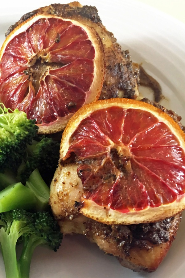 Blood Orange Chicken with broccoli - Copy