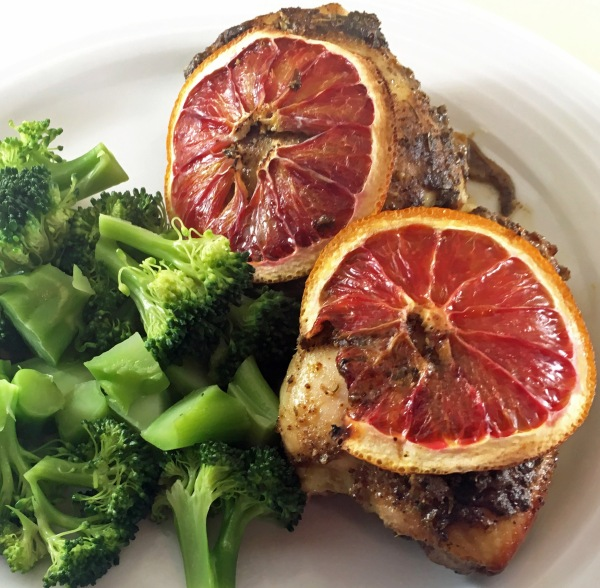 Blood Orange Chicken with broccoli