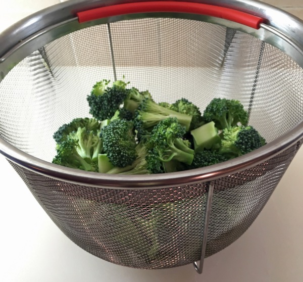 Broccoli in the steamer basket.jpg